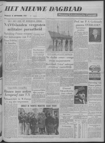 Nieuwe Schiedamsche Courant 1961-09-08