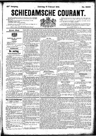 Schiedamsche Courant 1916-02-19