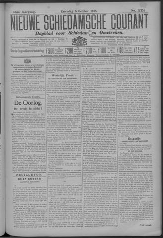 Nieuwe Schiedamsche Courant 1918-10-05