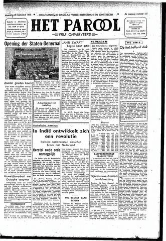 Rotterdamsch Parool / De Schiedammer 1945-09-26