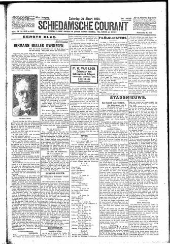 Schiedamsche Courant 1931-03-21