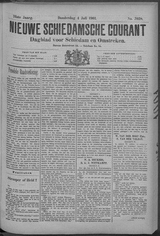Nieuwe Schiedamsche Courant 1901-07-04