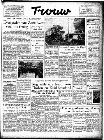 Trouw / De Rotterdammer 1953-02-16