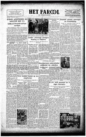 Rotterdamsch Parool / De Schiedammer 1947-01-08