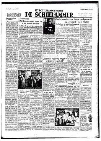 Rotterdamsch Parool / De Schiedammer 1948-08-24