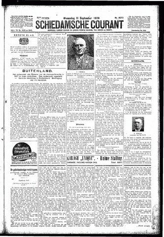 Schiedamsche Courant 1929-09-11