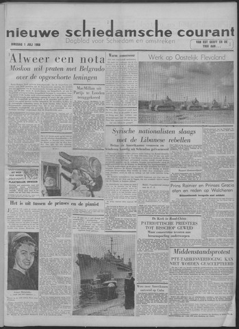 Nieuwe Schiedamsche Courant 1958-07-01