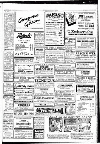 Rotterdamsch Nieuwsblad / Schiedamsche Courant / Rotterdams Dagblad / Waterweg / Algemeen Dagblad 1953-01-06