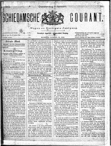 Schiedamsche Courant 1885-01-01