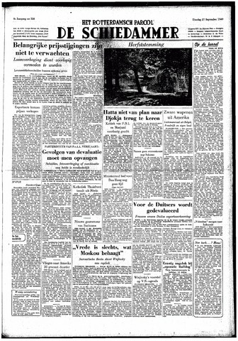 Rotterdamsch Parool / De Schiedammer 1949-09-27