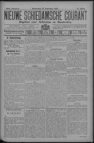 Nieuwe Schiedamsche Courant 1913-09-25