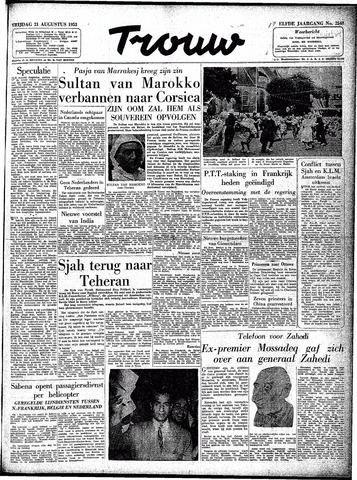Trouw / De Rotterdammer 1953-08-21