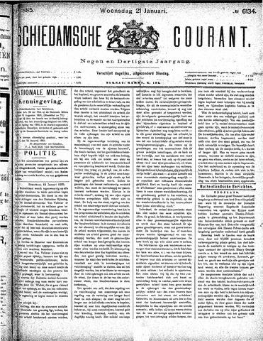 Schiedamsche Courant 1885-01-21