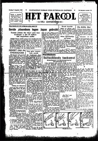 Rotterdamsch Parool / De Schiedammer 1945-08-07