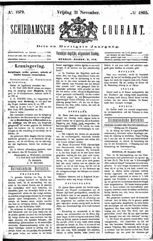 Schiedamsche Courant 1879-11-21