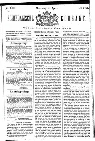 Schiedamsche Courant 1881-04-18
