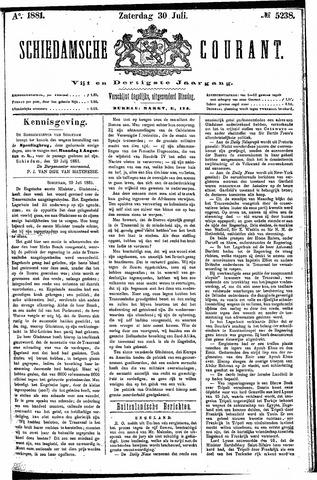 Schiedamsche Courant 1881-07-30