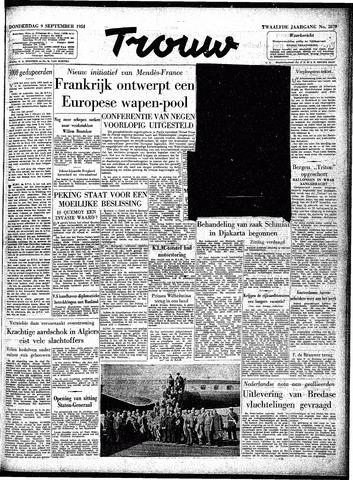 Trouw / De Rotterdammer 1954-09-09