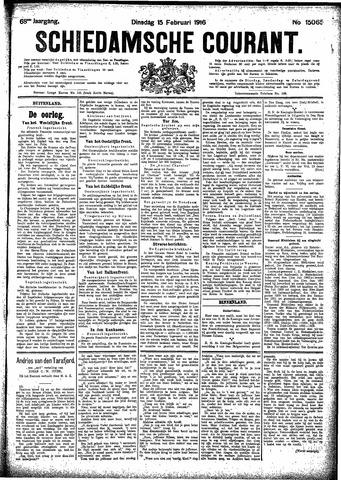 Schiedamsche Courant 1916-02-15