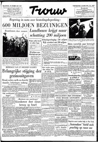 Trouw / De Rotterdammer 1957-02-18
