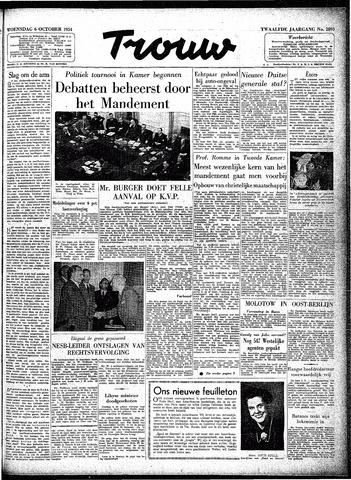 Trouw / De Rotterdammer 1954-10-06