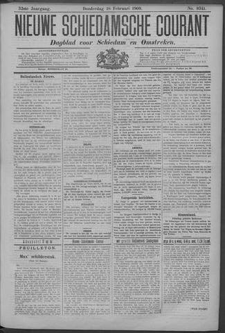 Nieuwe Schiedamsche Courant 1909-02-18