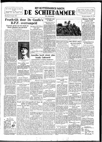 Rotterdamsch Parool / De Schiedammer 1947-10-20