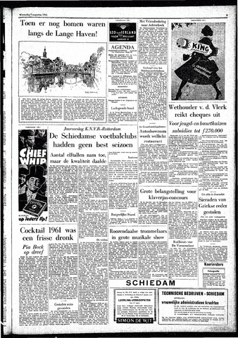 Rotterdamsch Parool / De Schiedammer 1961-08-09