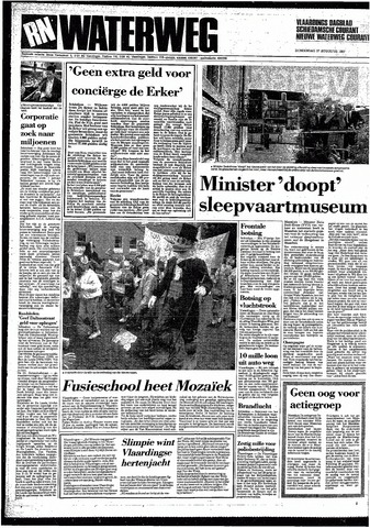 Rotterdamsch Nieuwsblad / Schiedamsche Courant / Rotterdams Dagblad / Waterweg / Algemeen Dagblad 1987-08-27