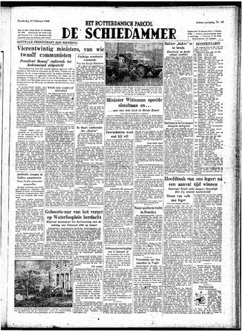 Rotterdamsch Parool / De Schiedammer 1948-02-26