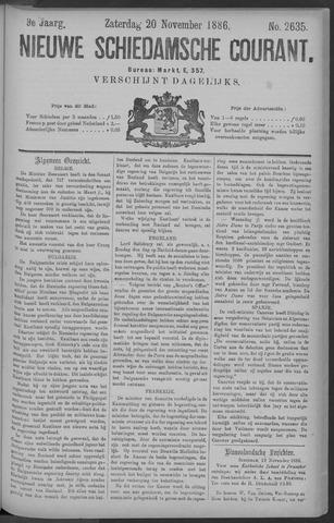 Nieuwe Schiedamsche Courant 1886-11-20