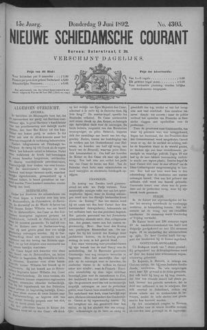 Nieuwe Schiedamsche Courant 1892-06-09