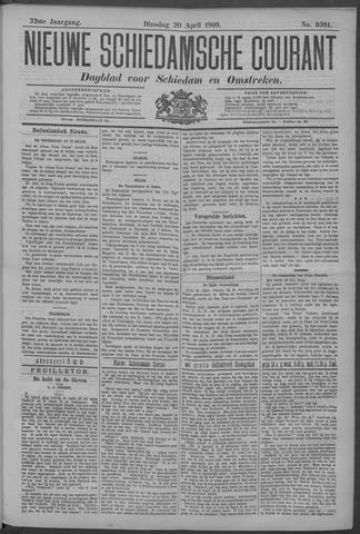 Nieuwe Schiedamsche Courant 1909-04-20