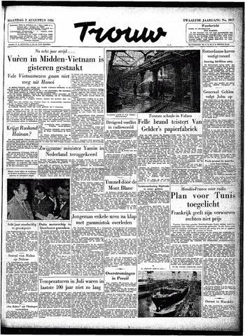 Trouw / De Rotterdammer 1954-08-02
