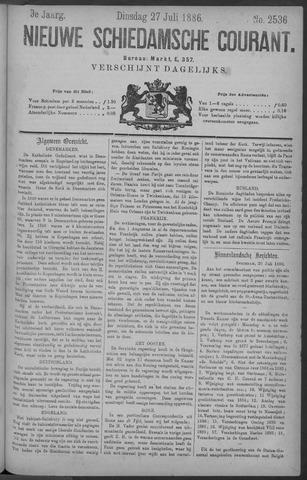 Nieuwe Schiedamsche Courant 1886-07-27