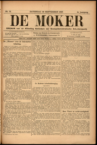 De Moker 1905-09-30