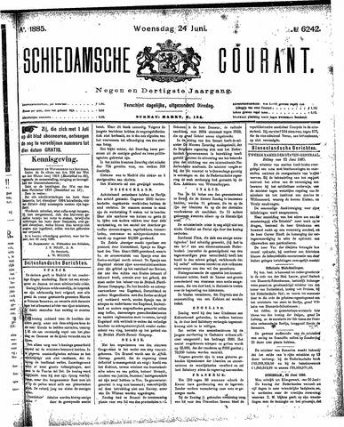 Schiedamsche Courant 1885-06-24