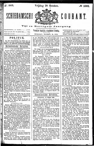 Schiedamsche Courant 1881-10-28