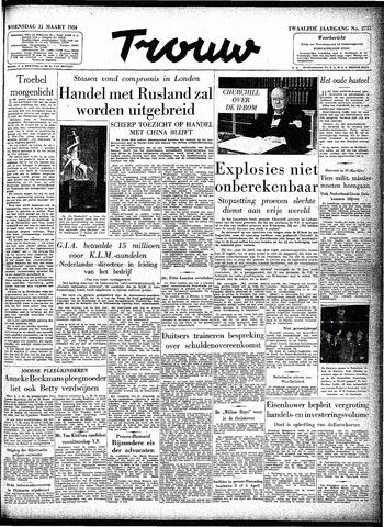 Trouw / De Rotterdammer 1954-03-31