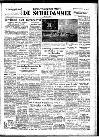Rotterdamsch Parool / De Schiedammer 1947-09-19