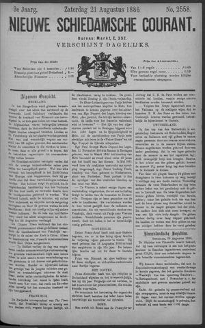 Nieuwe Schiedamsche Courant 1886-08-21