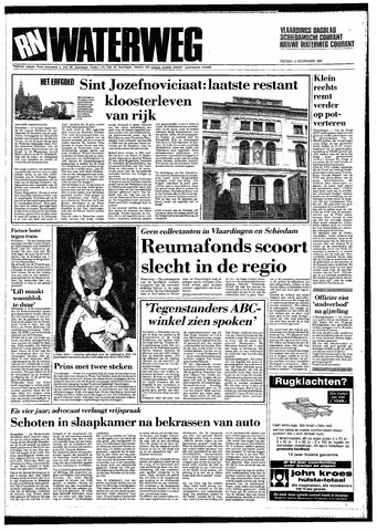 Rotterdamsch Nieuwsblad / Schiedamsche Courant / Rotterdams Dagblad / Waterweg / Algemeen Dagblad 1987-11-13