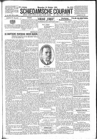 Schiedamsche Courant 1931-10-14