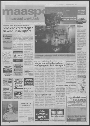 Maaspost / Maasstad / Maasstad Pers 2000-09-27