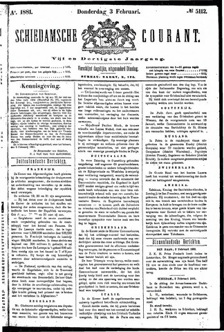 Schiedamsche Courant 1881-02-03
