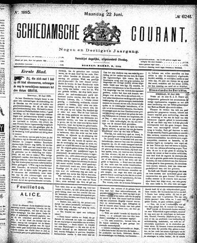 Schiedamsche Courant 1885-06-22