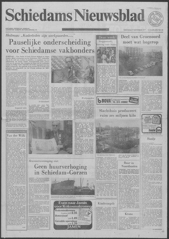 Schiedams Nieuwsblad 1977-11-09