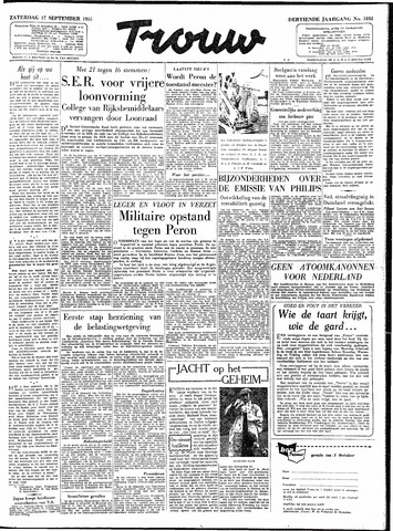 Trouw / De Rotterdammer 1955-09-17