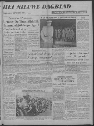 Nieuwe Schiedamsche Courant 1961-09-23