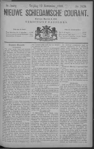 Nieuwe Schiedamsche Courant 1886-11-12
